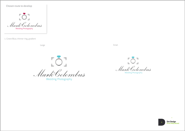 Logo Design Process – Mark Colombus Wedding Photography