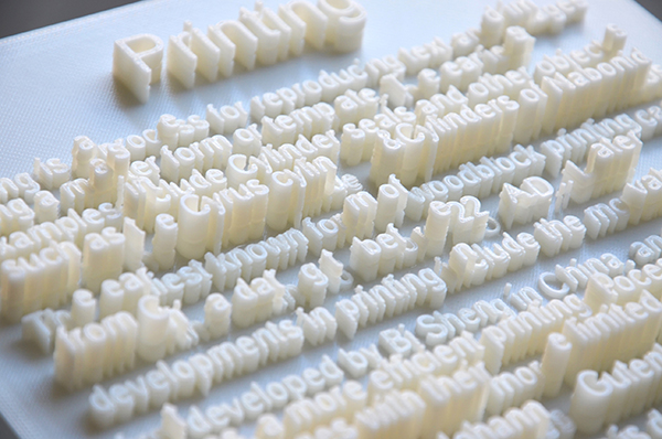 3D Printed Typeface