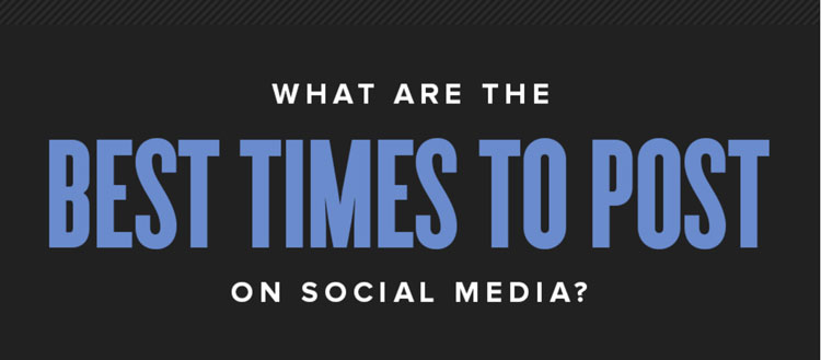 What are the best times to post updates to social media? (infographic)