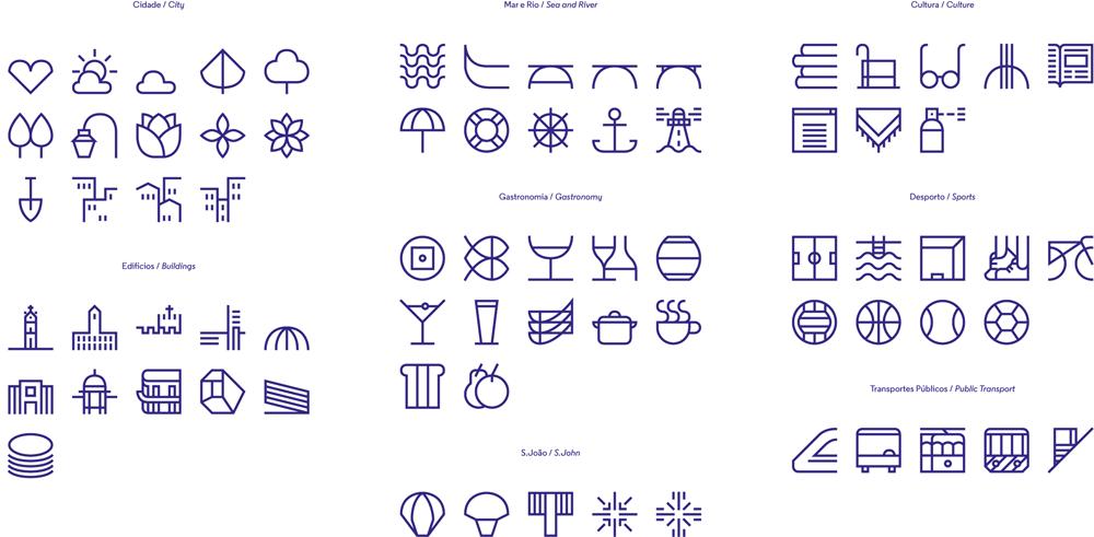 porto logo design icons