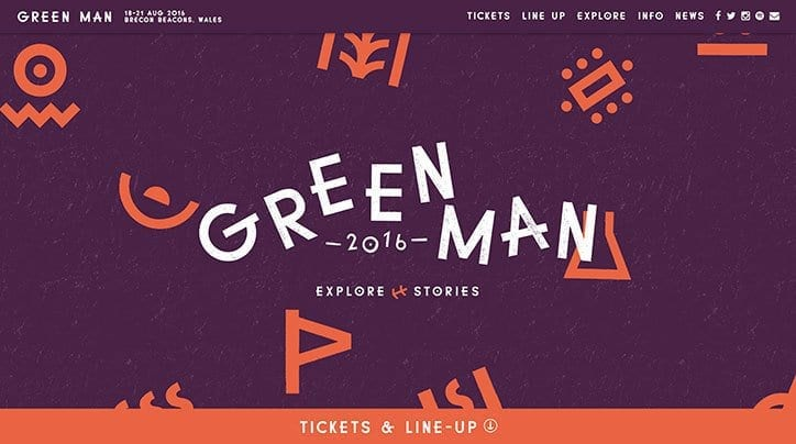 New website and identity design for Green Man Festival