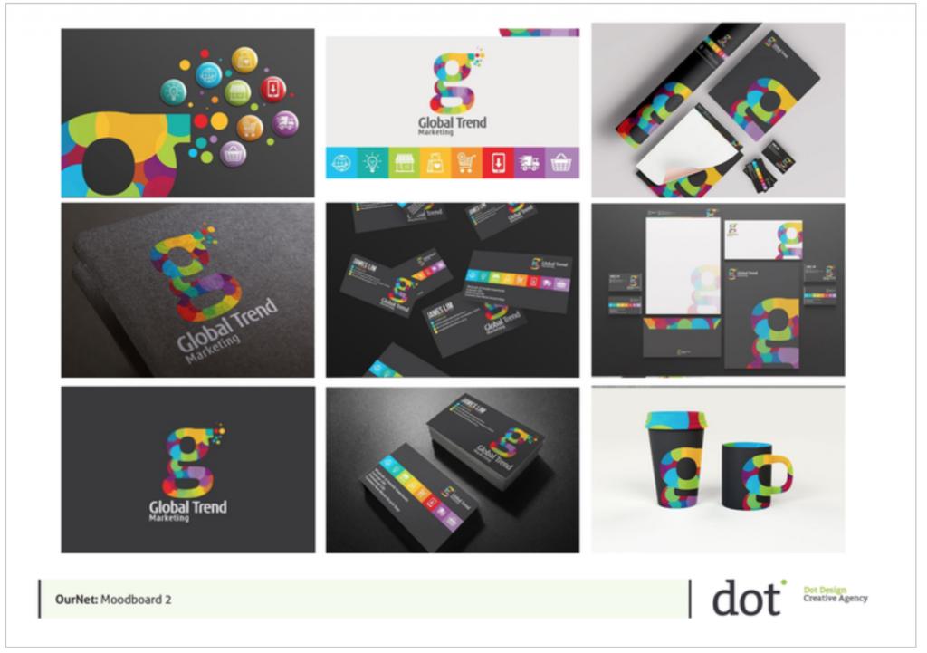 Ournet Logo Design Moodboard