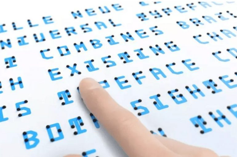 Typeface made from braille and a typface