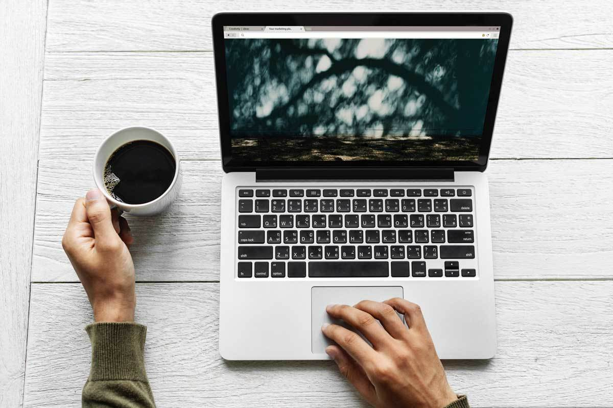 laptop aerial background SEO Content Writing
