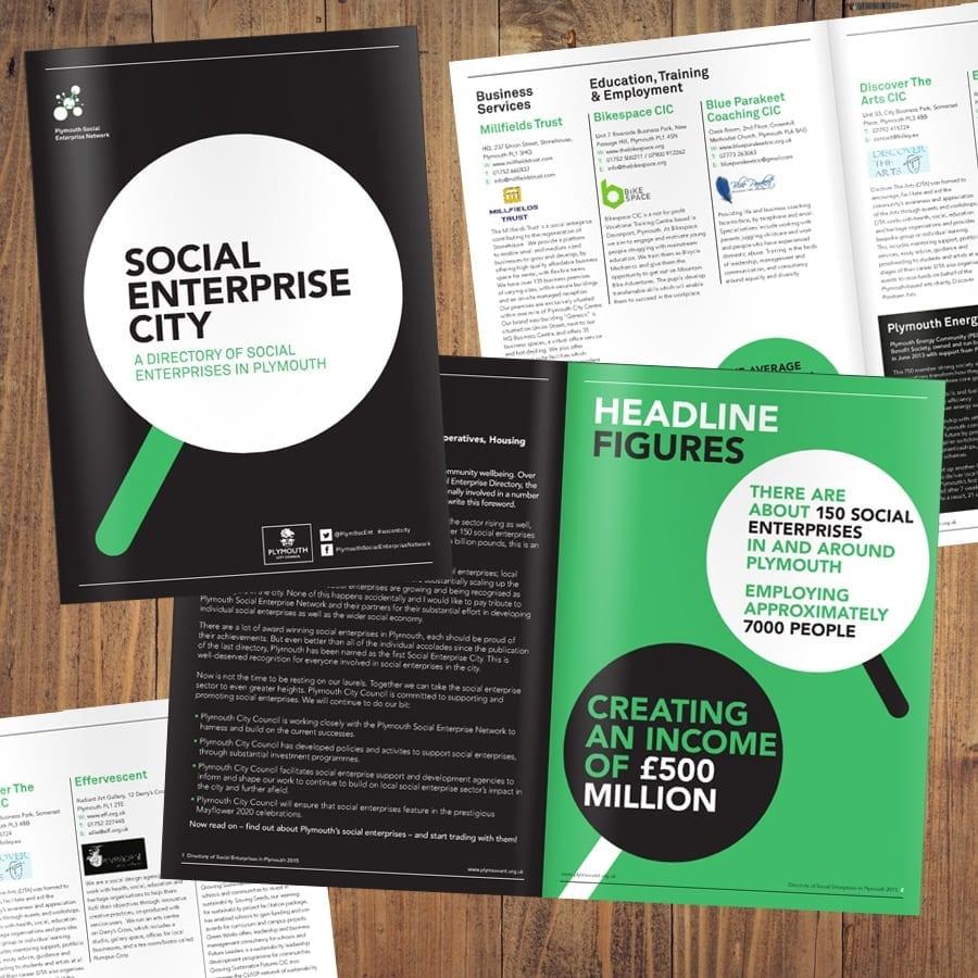 Plymouth Social Enterprise Booklet design