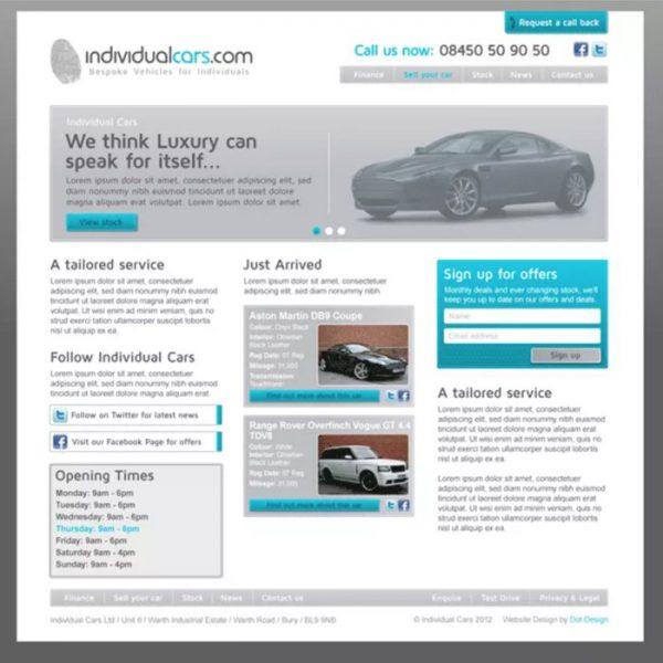 individual-cars-website-development-devon-