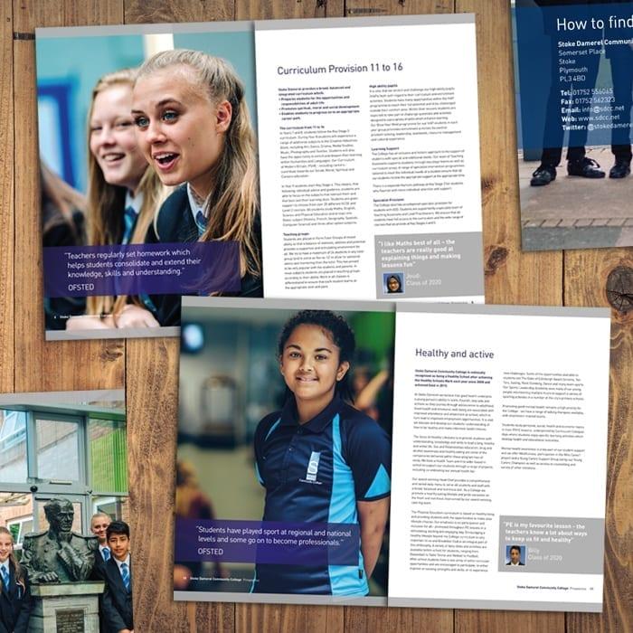 SDCC Prospectus branding for schools