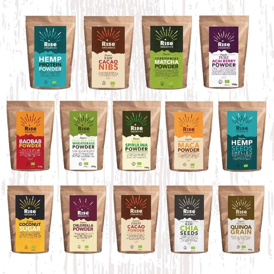 rise organics packaging devon designer