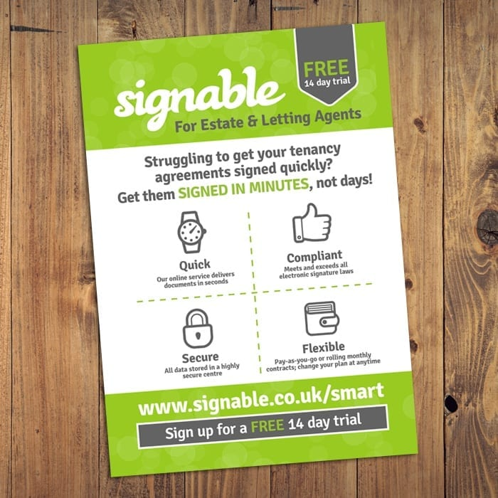 signable poster design devon