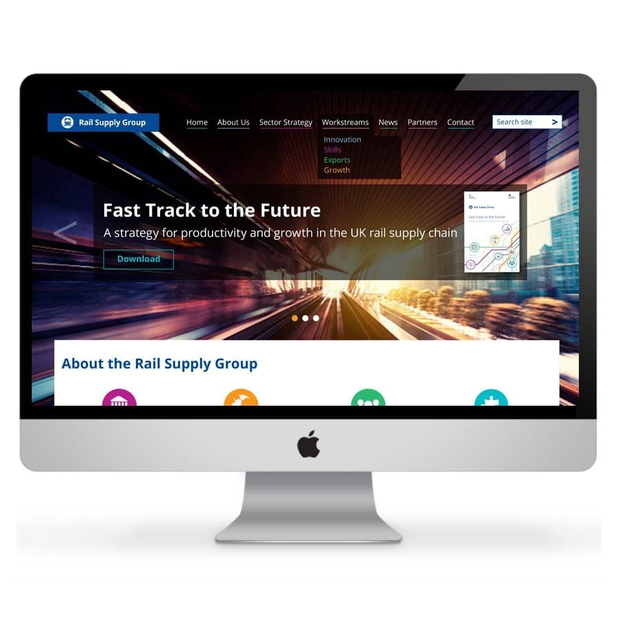 Rail Supply Group Website design