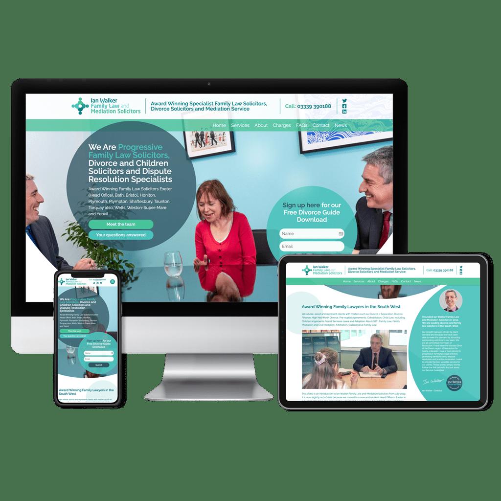 Ian Walker website design