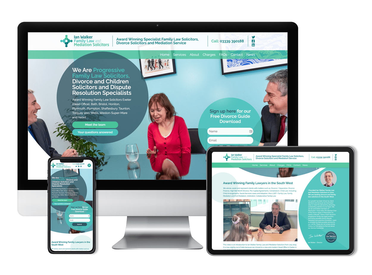 Ian Walker Family Law and Mediation Solicitors - Website Design and Development