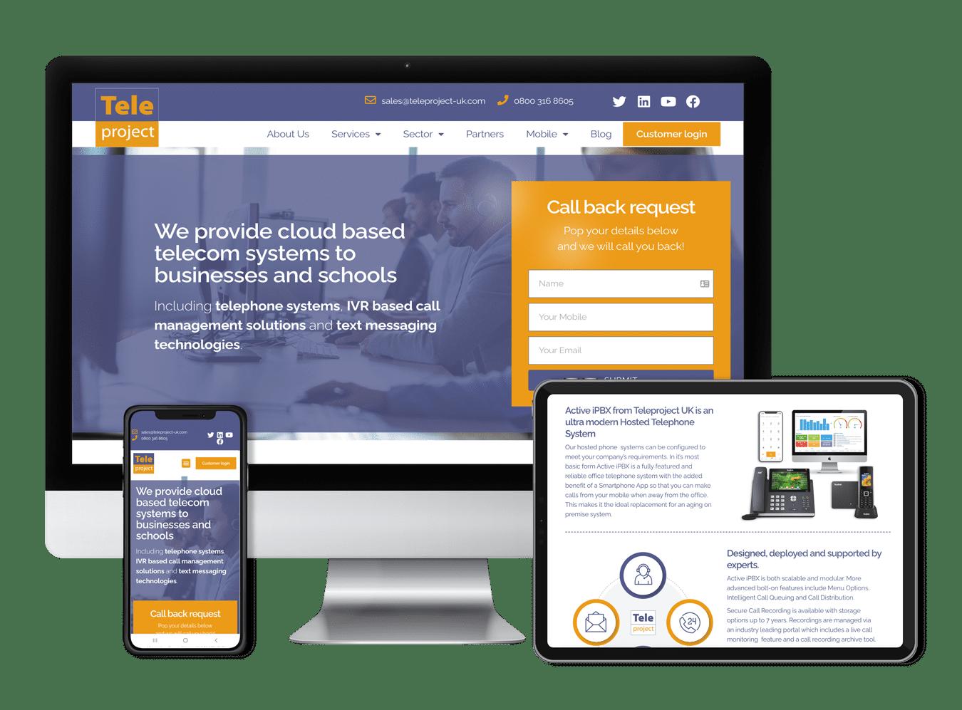 teleproject website design and development