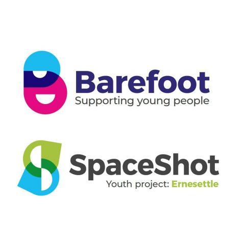 Barefoot and SpaceShot logo designs