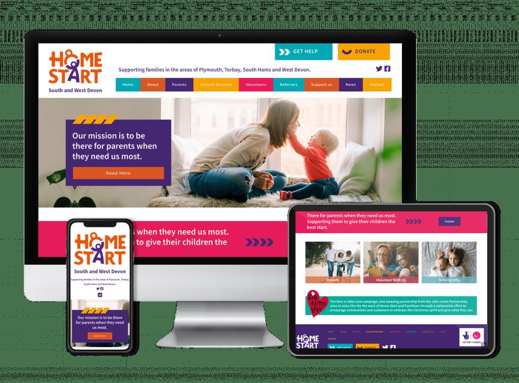 Home Start Website design